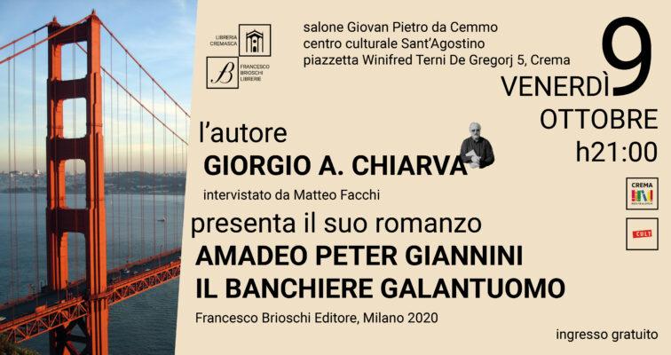 Incontro con l'autore: Giorgio A. Chiarva